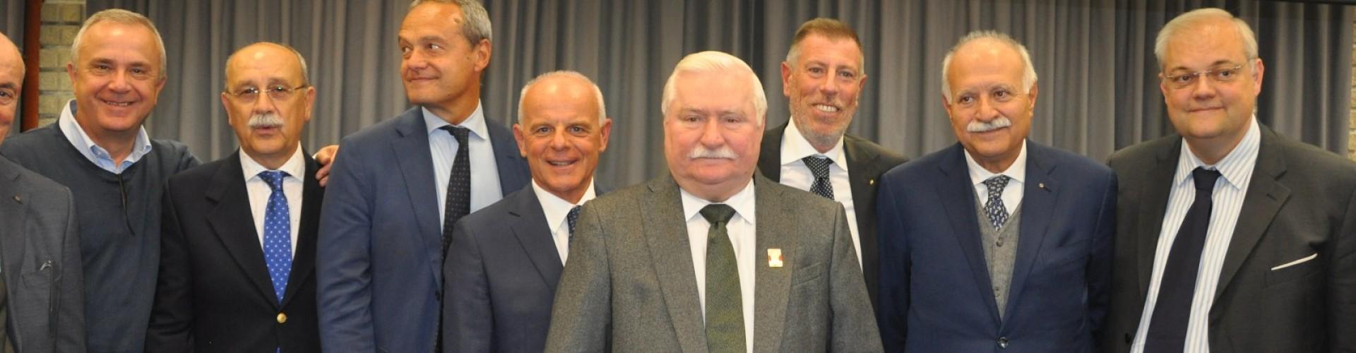 Visita del Premio Nobel per la Pace Lech Wałęsa